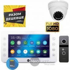 Комплект видеодомофона Neolight Kappa+ HD и Neolight Solo FHD и камера 2Мп
