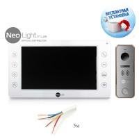Комплект видеодомофона NeoLight Kappa и вызывной панели NeoLight
